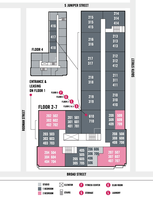 Southstar Lofts - Philadelphia Apartments - Map